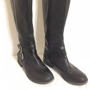 Kelly Katie leather motorcycle boots
